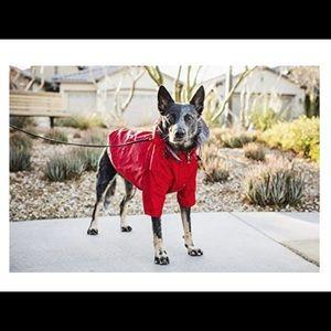 Waterproof red windbreaker for dogs XL